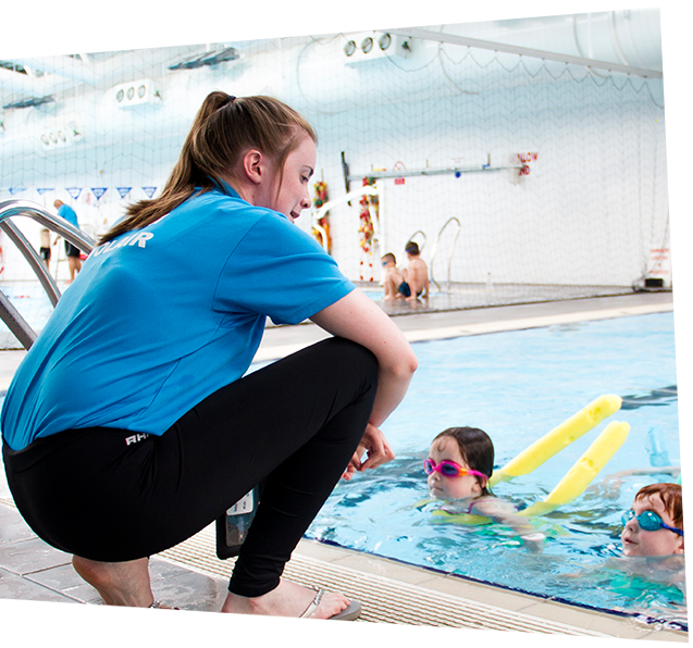 Swim Tutor Training Kids on safe swimming